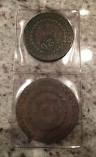 2 Heavy & Early 1800's Brazilian Counterstruck Trade Coins