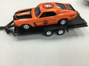 ERTL WIX 1969 FORD BOSS 302 MUSTANG & TRAILER BANK 1/24 SCALE IN BOX
