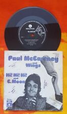 "ISRAEL Paul Mccartney Wings HI HI HI 7"" 45rpm Vinyl R5973 rare Hebrew pic sleeve"