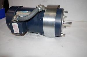 LEESON 3/4HP AC MOTOR & BRAKE # 110047.00  208-230/460VAC  1725RPM