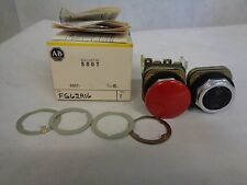 NEW ALLEN-BRADLEY 800T-FG62A16 PUSH BUTTON SWITCH ASSEMBLY RED/BLACK