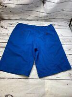 Mossimo Men's Khaki Blue shorts size 34 flat front