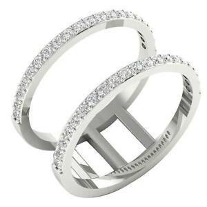 SI1 G 0.71 Carat Natural Diamond Enhancer Engagement Ring 14K White Gold RS 8.25