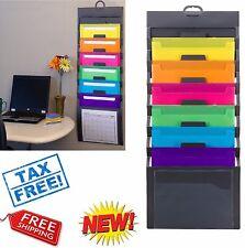 wall file organizer document holder pocket letter hanging office folder storage