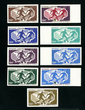 Gabon Stamps olympic set of 9 trial colors NH