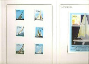 St Vincent grenadines SC # 579-585 America's Cup. Format international Printers