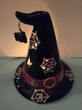 Halloween Cermaic Spookey Witch's Spider Tea Light Hat *CUTE*