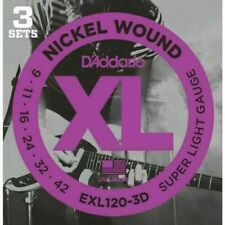 D'Addario EXL120-3D Nickel Wound Electric Guitar Strings