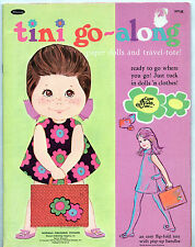 Whitman UNITED AIRLINES/TINI-GO-ALONG paper dolls bk 1969 uncut COME FLY WITH ME