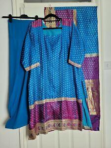3 Piece Indian Party Fancywear Salwar Shalwar Kameez Size Large 16