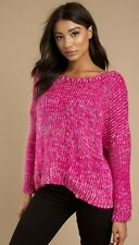 cd0c9b36db7 Tobi Womens Sz Small Nwt JUST CHILL OUT PINK KNITTED SWEATER
