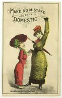 Make No Mistake Buy Domestic Sewing Machine No. 4 Comical Victorian Trade Card