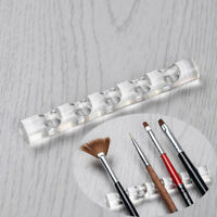 Clear Nail Art Tool Brush Rack Acrylic Stand Holder Organizers For Nail Pens One