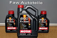 Motul Motoröl 5W40 8100 x-clean C3 vollsynthetisch 7 Liter