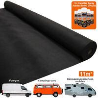 11m2 Doublure Intérieure Véhicule Tapis du Van Flexible Spray Adhésif Noir