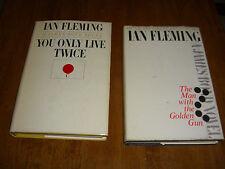 2 James Bond Novel 007 The Man With The Golden Gun & You Only Live Twice HCDJ