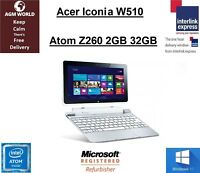 Acer Iconia W510 KD1 Tablet Laptop Intel Atom Z2760 1.80GHz 2GB 32GB Win 10