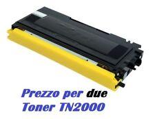 CARTUCCIA PER BROTHER MFC7225 MFC7420 SET DA 2 TONER TN2000 NERO COMPATIBILI