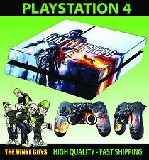 Ps4 Pelle Battlefield 4 v1 giochi FPS GUERRA Adesivo + Pad Decalcomanie in vinile situati a piatto