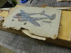 """ROYAL """"P-38 LIGHTNING"""" Balsa airplane kit See details"""