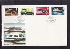 Jersey  enveloppe  faune marine  mer poisson coquillage homard  1973