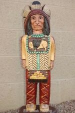2.5 CIGAR STORE INDIAN w Mandella Wooden Sculpture by Frank Gallagher