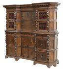 Antique Cabinet Italian Baroque Walnut Cabinet on Cabinet 1700's, 18th, Stunning