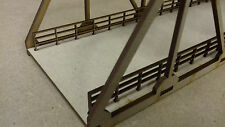 Laser Cut OO Gauge Road Bridge Braced Girder Bridge Kit 3mm MDF 40cms Long
