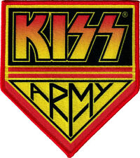 6555 Kiss Army Sew Iron on Patch Gene Simmons Rock Band Rock and Roll Rocker