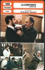 FICHE CINEMA : LA CONSTANTE - Krzysztof Zanussi 1980 - The Constant Factor