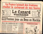 CANARD ENCHAINÉ Birthday Newspaper JOURNAL NAISSANCE 26 SEPTEMBRE SEPTEMBER 1990