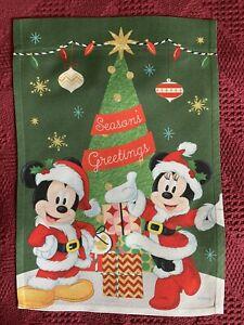 "Disney Christmas Garden Flag ( 12.5"" x 18"" ) Mickey & Minnie Season's Greetings"