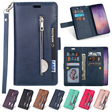 For Samsung Galaxy Note 20/ 20 Ultra Case Strap Wallet Flip Leather Zipper Cover