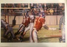 """Ole Miss vs Mississippi State Egg Bowl Art Print """"The Sack"""""""