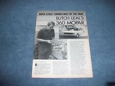 1977 Butch Leal 360 Mopar Engine Tech Info Article Dodge Chrysler