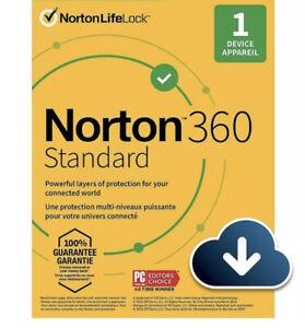Norton 360 Standard Registered 2 Year 1 Device License Code Key