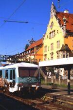 PHOTO  GERMAN RAILWAYS - DB DMU 628 346 AT LINDAU HBF. IN AUGUST 2001. PITY ABOU