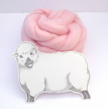 CANDYFLOSS PINK MERINO ROVING 50g / wool fibre dyed wool tops needle felting