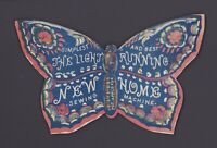 Original 1800s New Light Running Home Sewing Machine Advertising Label - Die Cut