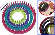 Strickring Set 6tlg Strickrahmen Knitting Loom mit Anleitung Strickliesel Haken