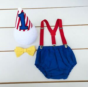 Circus Theme First Birthday Outfit - Cake Smash Outfit - Carnival - Clown Boy