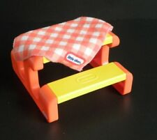 Little Tikes Doll House Picnic Table and Table Cloth / Blanket