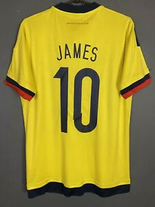 MEN'S JAMES #10 COLOMBIA 2015/2016 SOCCER FOOTBALL SHIRT JERSEY MAILLOT SIZE S