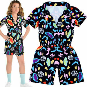 Eleven Cosplay Halloween Costume Girl Stranger Things 3 Fancy Jumpsuit Outfit