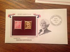 Great Americans:  Thomas Jefferson,  22KT Golden Replicas