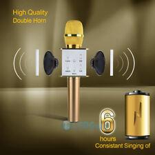 New listing Ktv-Q7 Wireless Karaoke Handheld Microphone Usb Ktv Player Bluetooth Mic Speaker