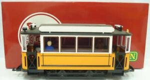 LGB 3500 Yellow Non-Powered Streetcar / Trolley LN/Box