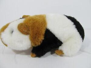 "Black Tan & White Guinea Pig Gerbil Hamster Plush 7"" Long Realistic"