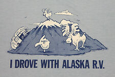 M * thin vtg 80s ALASKA RV t shirt * MT McKINLEY * 70.99