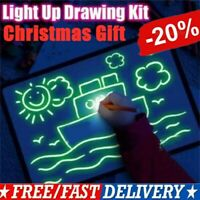Magic Drawing Board Fluorescent Light Retaining Painting Graffiti Board Kid Gift
